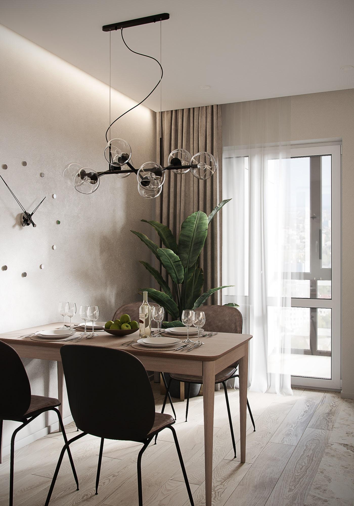 Tư vấn thiết kế căn hộ thô có diện tích 54m² với tổng chi phí 83 triệu đồng - Ảnh 4
