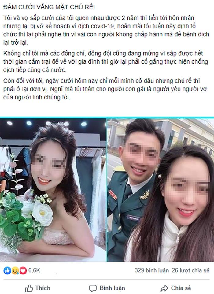 Xúc động trước tâm sự của chàng trai phải hoãn cưới để chống dịch COVID-19 - Ảnh 2