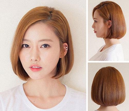 Tóc ngang vai ép phồng là một kiểu tóc đẹp mà các bạn có khuôn mặt ngắn nên thử một lần