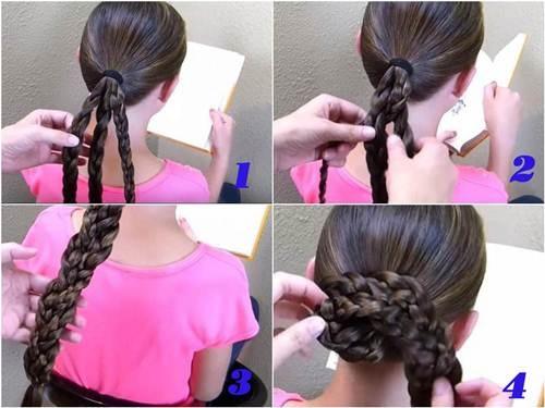 10 kiểu tóc tết cho bé gái, mẹ chỉ mất 5 phút mỗi sáng mà con xinh lên bội phần - Ảnh 10