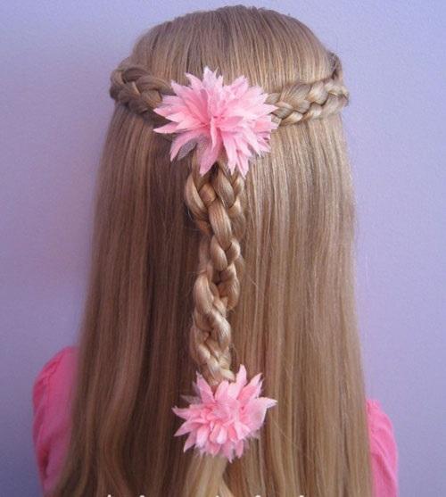 10 kiểu tóc tết cho bé gái, mẹ chỉ mất 5 phút mỗi sáng mà con xinh lên bội phần - Ảnh 12
