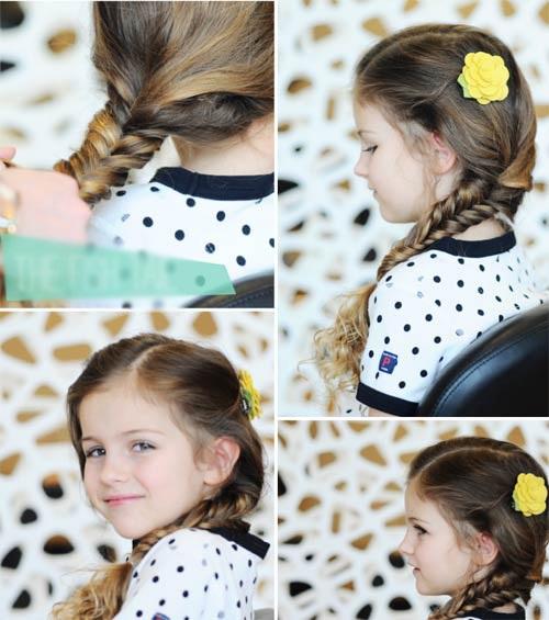 10 kiểu tóc tết cho bé gái, mẹ chỉ mất 5 phút mỗi sáng mà con xinh lên bội phần - Ảnh 3