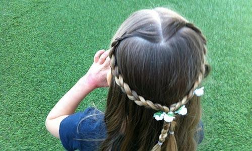 10 kiểu tóc tết cho bé gái, mẹ chỉ mất 5 phút mỗi sáng mà con xinh lên bội phần - Ảnh 5