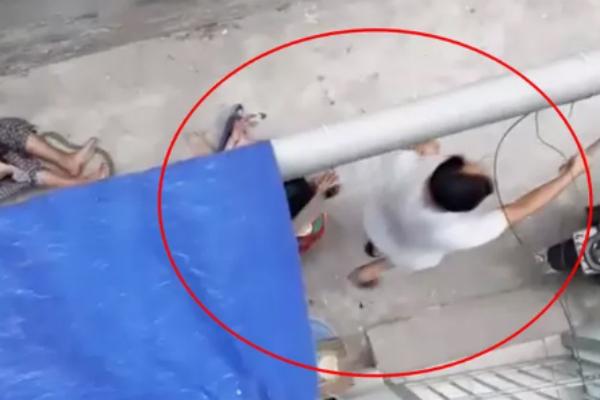 Kinh hoàng clip cụ bà ở Hà Nội bị chó cắn máu me đầm đìa, người phụ nữ cố giải cứu trong bất lực - Ảnh 1
