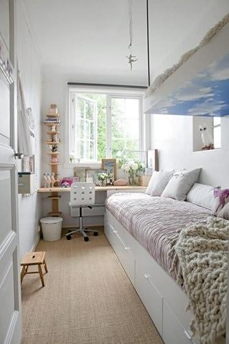 Ngẩn ngơ những mẫu phòng ngủ siêu nhỏ, siêu xinh dành cho nhà chật - Ảnh 5