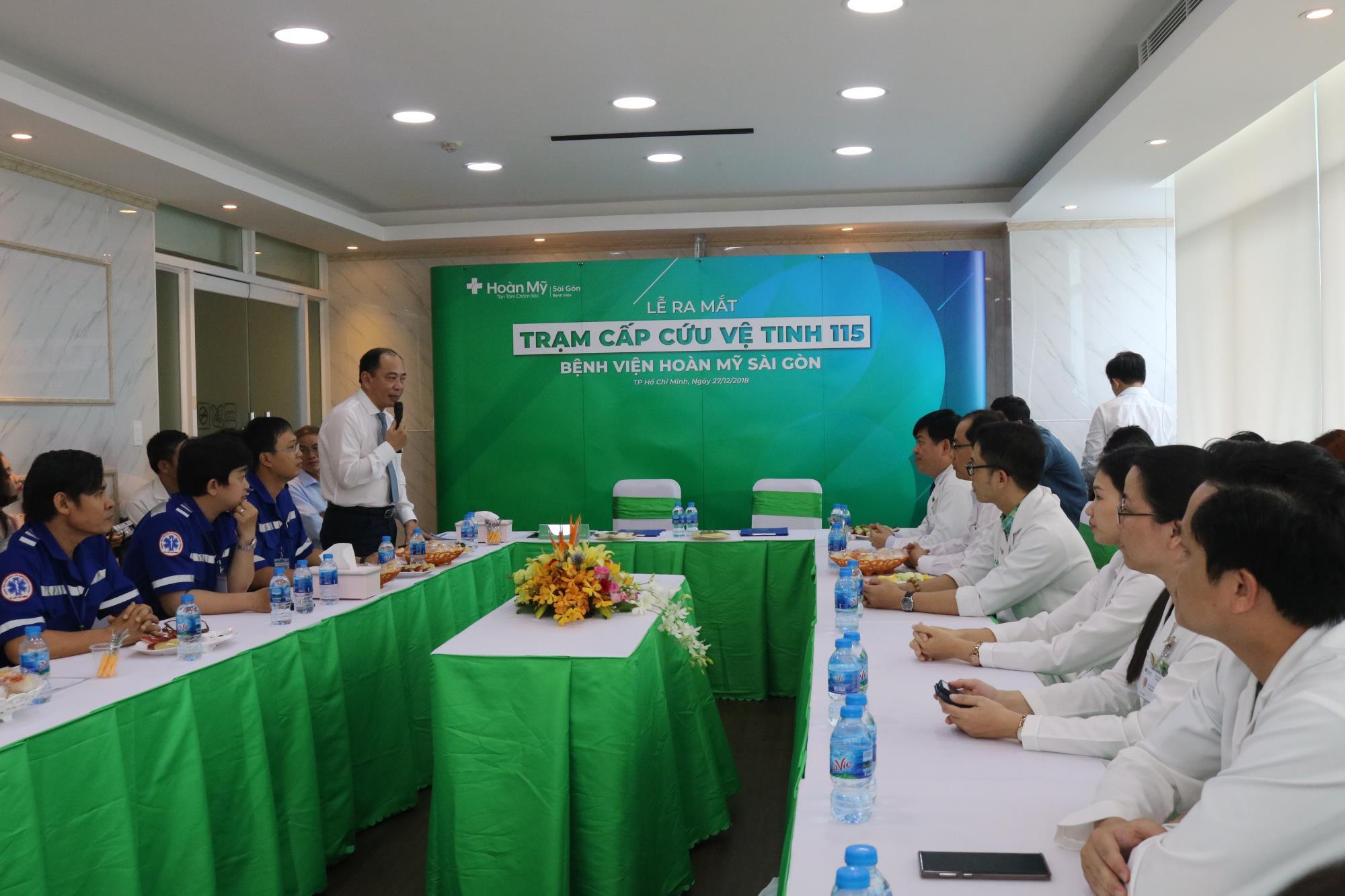Phó giáo sư Tăng Chí Thượng, Phó Giám đốc Sở Y tế TP HCM đánh giá cao sự tham gia của Bệnh viện Hoàn Mỹ Sài Gòn vào mạng lưới cấp cứu thành phố