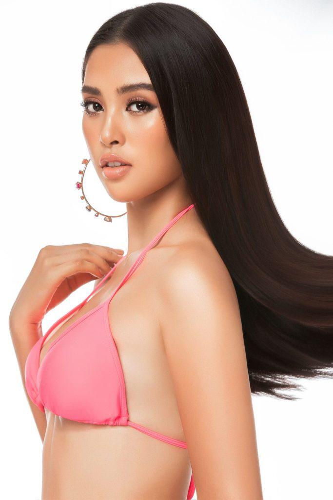 Hoa hậu Tiểu Vy diện bikini bé tin hin, khoe 'đường cong chuẩn quốc tế'  - Ảnh 1