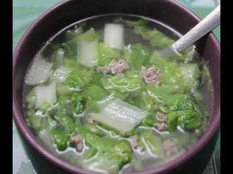 Canh cải thảo thịt bằm thanh mát và giàu chất xơ sẽ giúp cả nhà ngon miệng và tốt cho hệ tiêu hóa