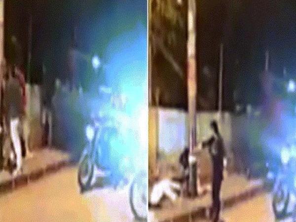 Nữ sát thủ bước xuống xe chĩa súng vào nhóm thanh niên và bóp cò