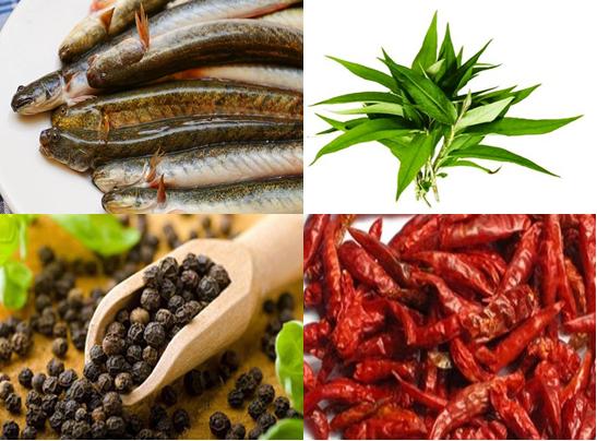Nguyên liệu cho món cá kèo kho tiêu