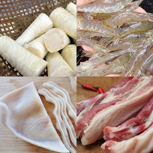 Nguyên liệu cho món gỏi củ hủ dừa giòn ngon, lạ miệng