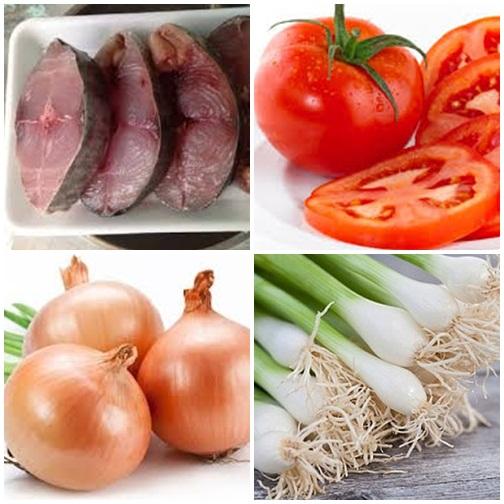Nguyên liệu cho món cá ngừ sốt cà chua