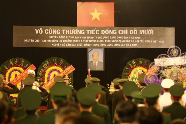 Tang lễ nguyên Tổng bí thư Đỗ Mười tổ chức theo nghi thức Quốc tang - Ảnh 15