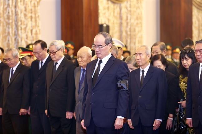 Tang lễ nguyên Tổng bí thư Đỗ Mười tổ chức theo nghi thức Quốc tang - Ảnh 16