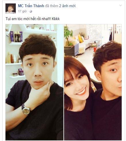 Sau tin đồn hôn nhân rạn nứt, vợ chồng Hari Won - Trấn Thành có hành động 'lạ' - Ảnh 1