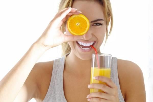 Nước cam lạnh giúp làm trắng da tự nhiên nhanh trong 7 ngày