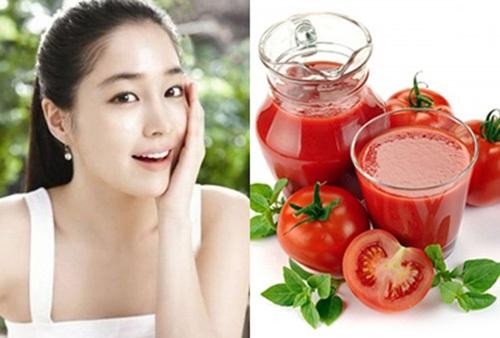Mẹo làm trắng da nhanh nhất với nước ép cà chua