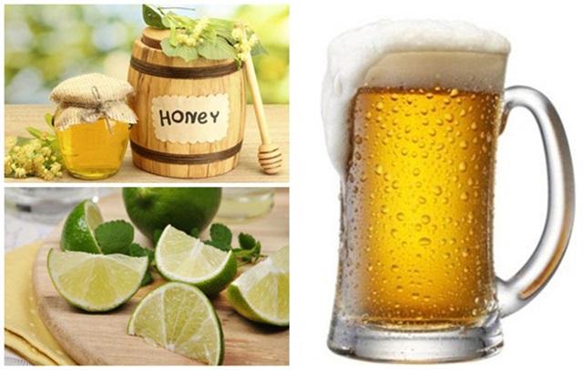 Trắng da từ bia kết hợp với sữa chua, mật ong, nước cốt chanh cho da sáng đẹp