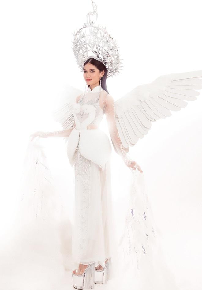 Thi Hoa hậu Quốc tế 2017, Thùy Dung diện trang phục dân tộc với hình ảnh con cò khiến nhiều người mê mẩn - Ảnh 1