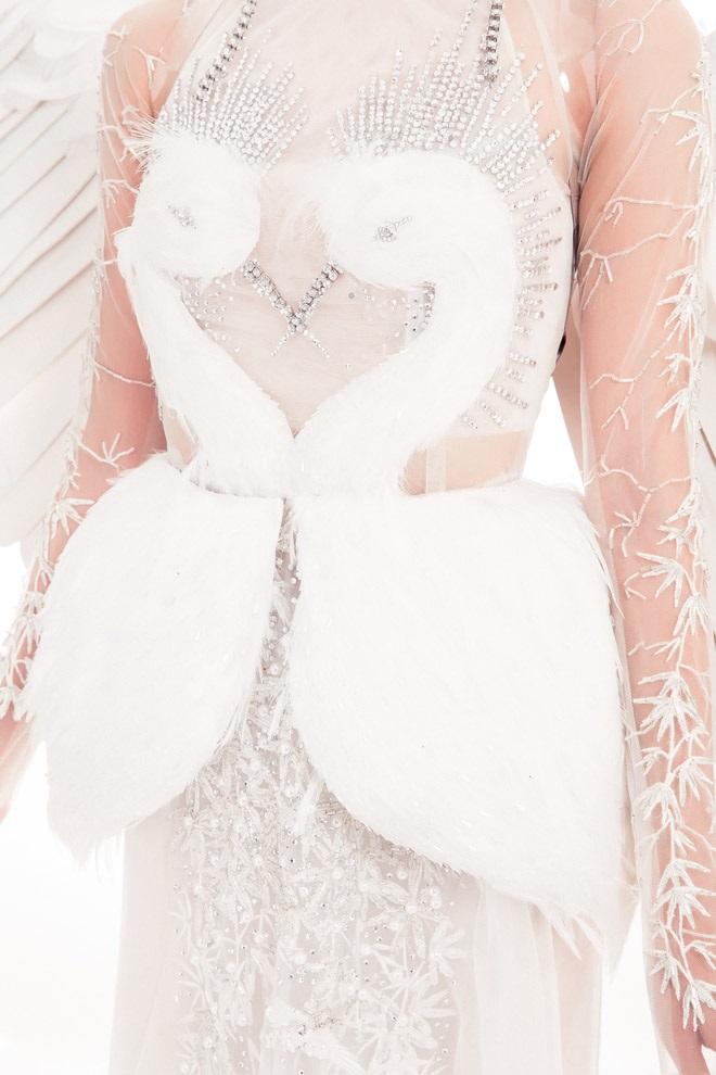 Thi Hoa hậu Quốc tế 2017, Thùy Dung diện trang phục dân tộc với hình ảnh con cò khiến nhiều người mê mẩn - Ảnh 2