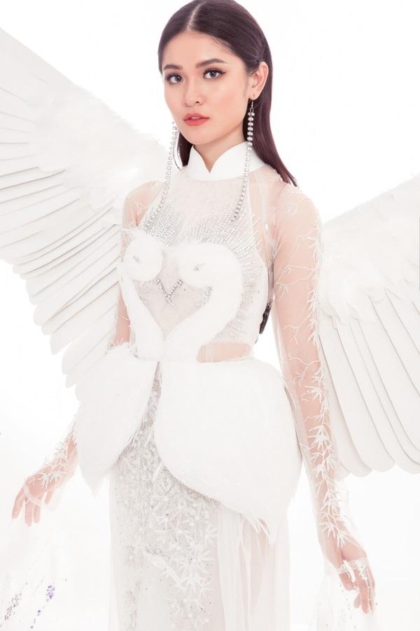 Thi Hoa hậu Quốc tế 2017, Thùy Dung diện trang phục dân tộc với hình ảnh con cò khiến nhiều người mê mẩn - Ảnh 4
