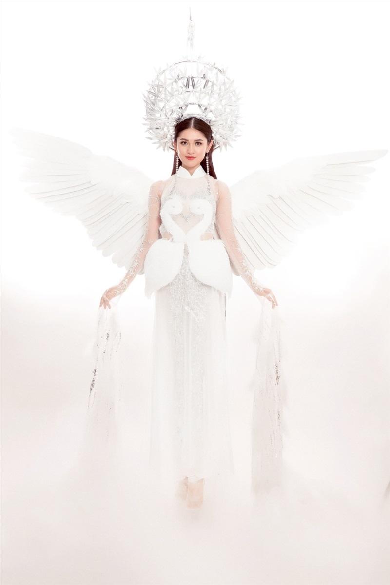 Thi Hoa hậu Quốc tế 2017, Thùy Dung diện trang phục dân tộc với hình ảnh con cò khiến nhiều người mê mẩn - Ảnh 8