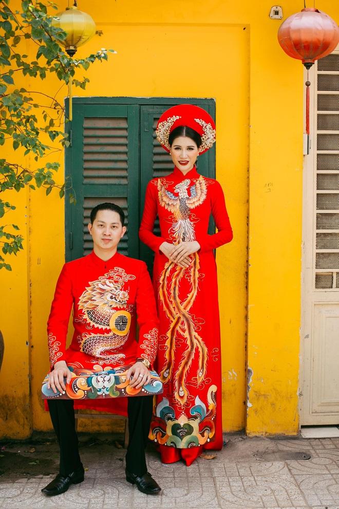 Ngắm trọn bộ ảnh cưới truyền thống đẹp lung linh của Trang Trần cùng ông xã Việt kiều Louis Trần - Ảnh 7