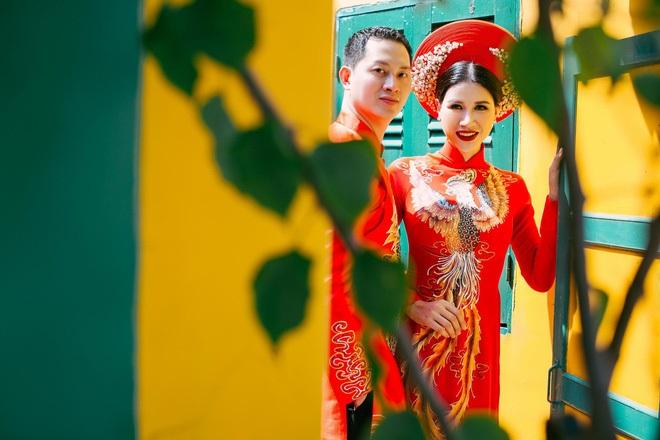 Ngắm trọn bộ ảnh cưới truyền thống đẹp lung linh của Trang Trần cùng ông xã Việt kiều Louis Trần - Ảnh 8