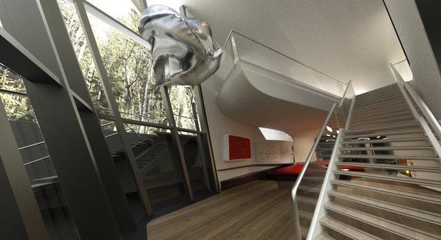 Dinh thự phỏng theo tàu vũ trụ bí ẩn giữa rừng của đại gia bất động sản - Ảnh 4