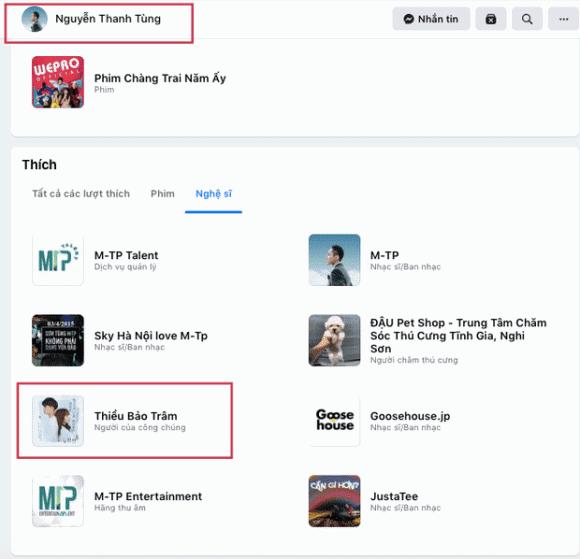 Dù huỷ theo dõi, Sơn Tùng vẫn bị soi chi tiết liên quan đến Thiều Bảo Trâm trên Facebook cá nhân - Ảnh 2