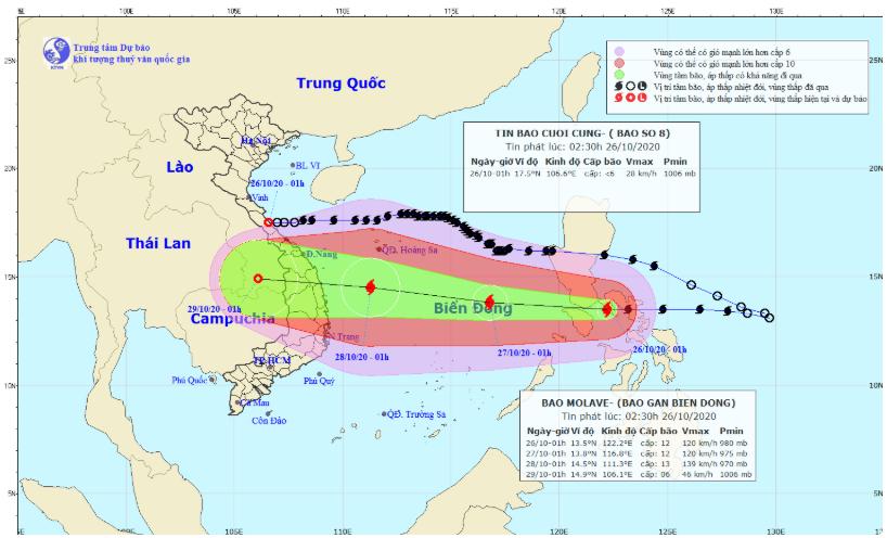 Vừa 'thở phào' vì bão số 8 suy yếu, miền Trung lại lo vì bão số 9 mạnh dần - Ảnh 1