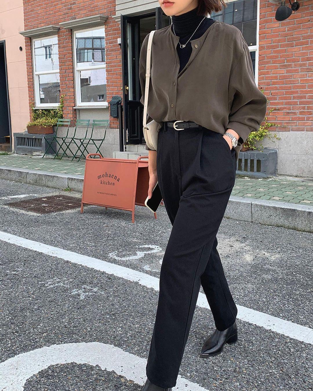 Gái Hàn diện quần đen rất nhiều nhưng luôn xịn đẹp chứ không nhàm chán, đó là vì họ có 4 tips - Ảnh 6