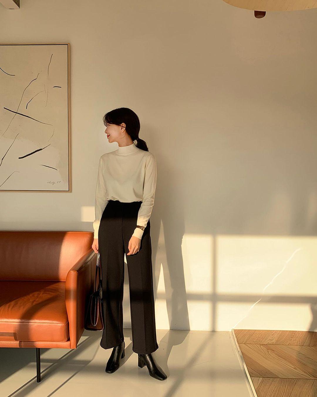 Gái Hàn diện quần đen rất nhiều nhưng luôn xịn đẹp chứ không nhàm chán, đó là vì họ có 4 tips - Ảnh 8