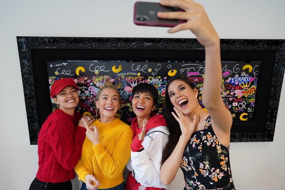 H'Hen Niê vui mừng ôm chặt hoa hậu Mỹ trong ngày hội ngộ - Ảnh 3