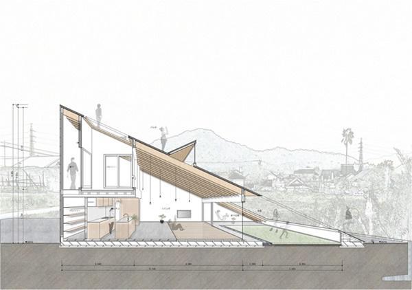 Hình ảnh phác họa các phòng ở tầng 1 và tầng 2 của căn nhà.