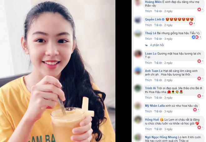 Con gái 13 tuổi của Quyền Linh được khen giống Tiểu Vy, dân mạng dự đoán là hoa hậu tương lai - Ảnh 1