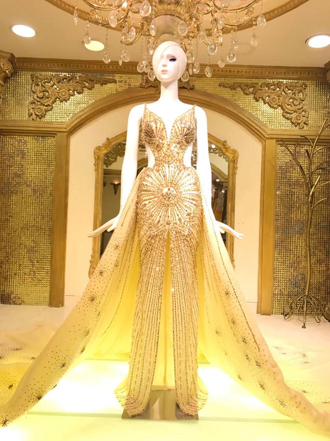 Chiếc váy tạo nên 'kỳ tích' cho 3 nàng Hoa hậu Việt Nam ở đấu trường nhan sắc quốc tế - Ảnh 8