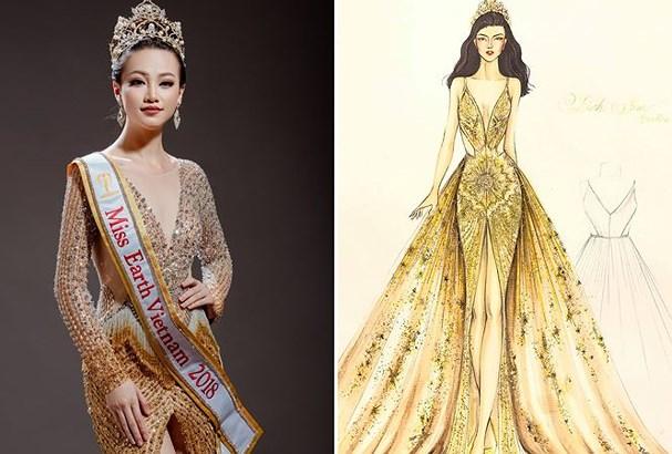 Chiếc váy tạo nên 'kỳ tích' cho 3 nàng Hoa hậu Việt Nam ở đấu trường nhan sắc quốc tế - Ảnh 9