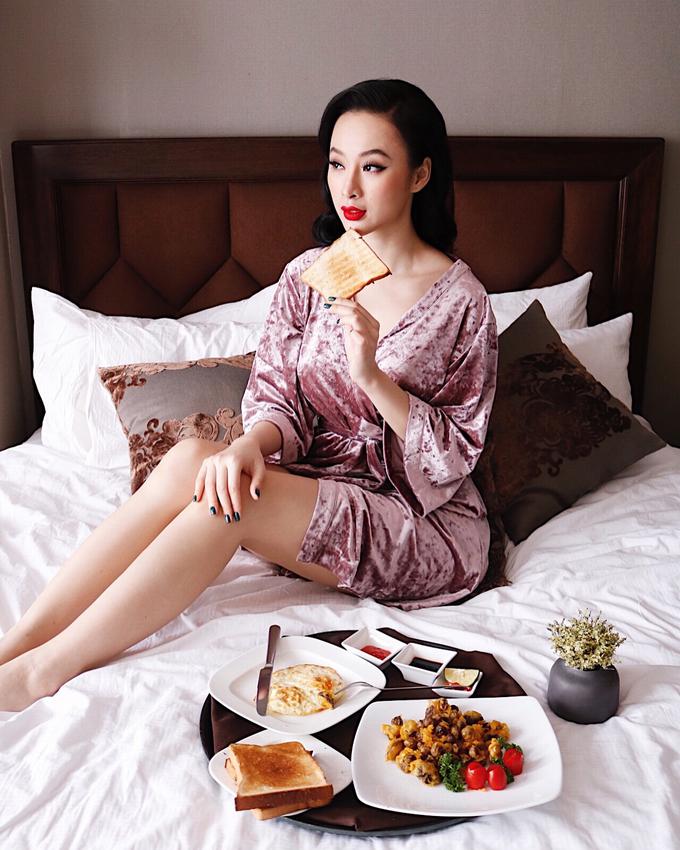'Bà mẹ nhí' Angela Phương Trinh 'nghiện' ăn chay để giữ thân hình 'bốc lửa' - Ảnh 8