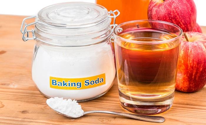 Cách trị gàu bằng baking soda và giấm táo