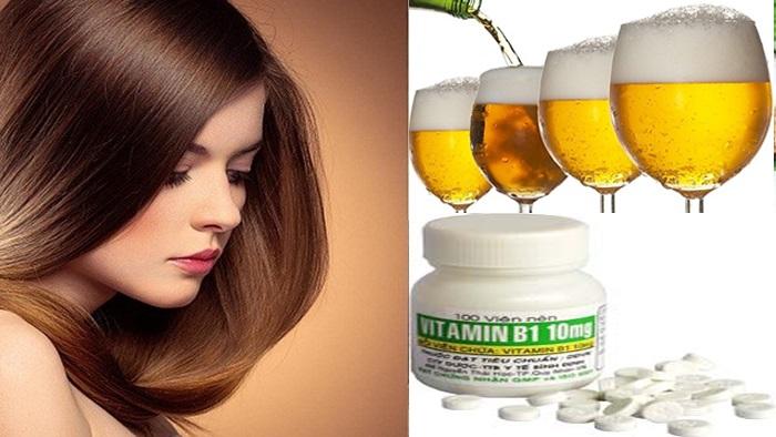 Cách trị gàu bằng bia và B1
