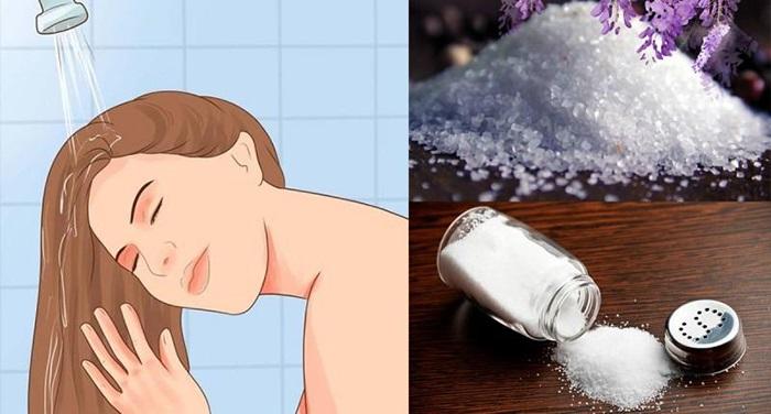 Cách trị gàu bằng muối và đường phèn