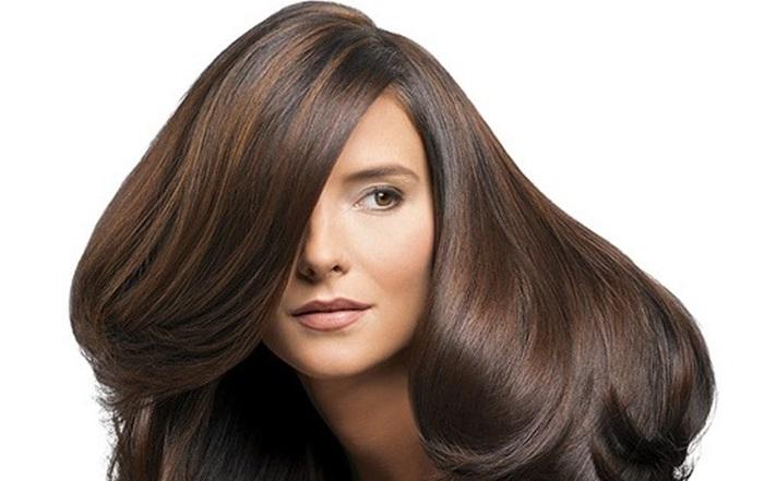 Mái tóc óng mượt, hết gàu sau khi dùng sả trị gàu.