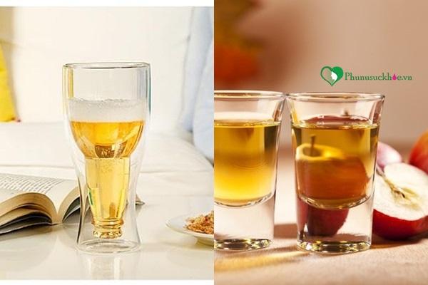 Sự kết hợp giữa bia và giấm táo cũng giúp trị rụng tóc hiệu quả