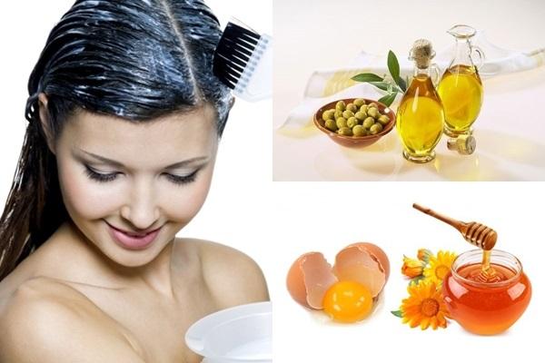Cách trị rụng tóc với dầu oliu cùng trứng gà và mật ong cực hiệu quả