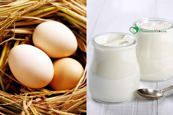 Cách đơn giản trị rụng tóc bằng trứng gà và sữa chua