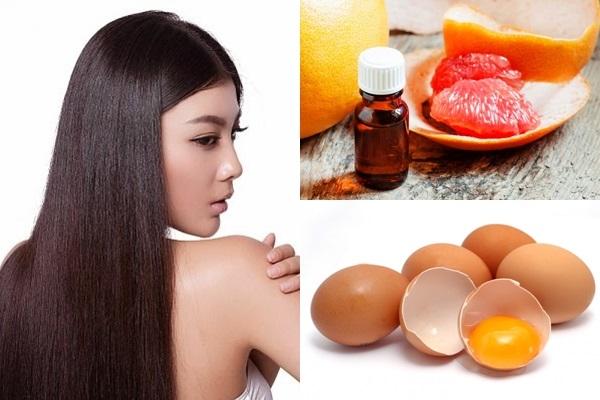 Kết hợp trị rụng tóc bằng tinh dầu vỏ bưởi và trứng gà