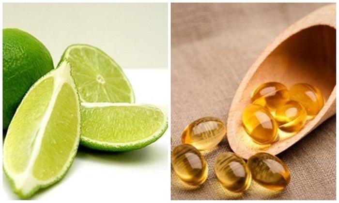Cách trị sẹo lồi bằng vitamin E và nước cốt chanh