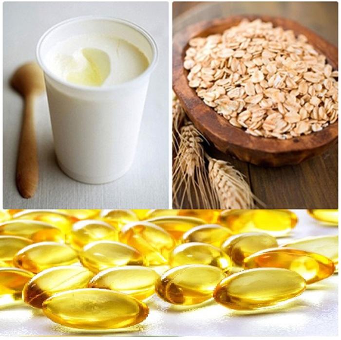 Cách trị sẹo lồi bằng vitamin E, bột yến mạch và sữa chua