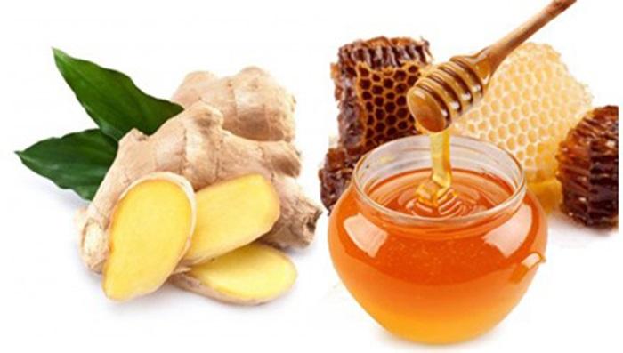 Trị sẹo lõm bằng gừng và mật ong